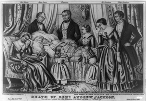 Death Of Genl. Andrew Jackson Image