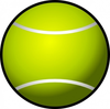 Simple Tennis Ball Clip Art Image