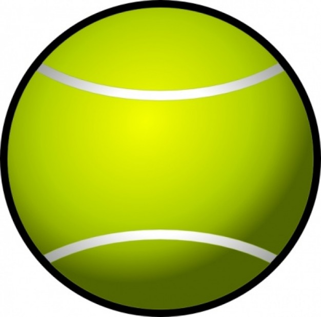 Simple Tennis Ball Clip Art Free Images At Clker Com