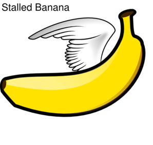 Stalled Banana Clip Art