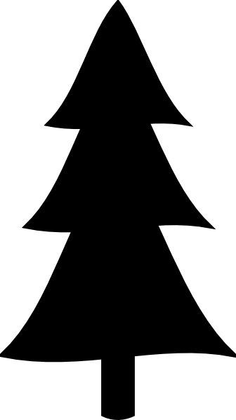 Black Christmas Tree Clip Art At Clker Com Vector Clip Art Online