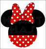 Black Minnie Mouse Head Clipart Image