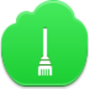 Free Green Cloud Broom Image