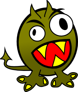 Small Funny Angry Monster Clip Art