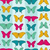 Seamless Pattern Colorful Butterflies Eps Vector Illustration Image
