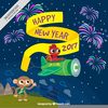 New Years Vector Clipart Image