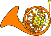 French Horn 3 Clip Art