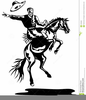 Cowboy With Saddle Clipart Image