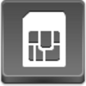 Free Grey Button Icons Sim Card Image