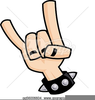 Metal Hand Sign Clipart Image