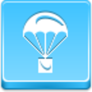 Free Blue Button Icons Parachute Image
