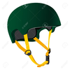 Football Helmets Crashing Clipart Image