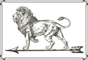 Lion On Arrow Clip Art