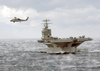 Sea Hawk Flies Over The Uss George Washington Image