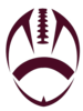 Maroon Football Cut Image