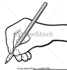 Black And White Pencil Clipart Image