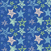 Chalk Stars Blue Design Image
