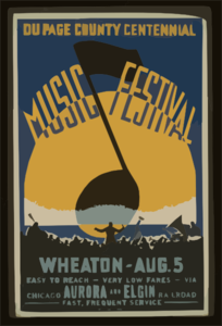 Du Page County Centennial Music Festival, Wheaton - Aug. 5 Clip Art