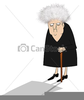 Cranky Old Lady Clipart Image
