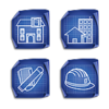 Architecture Blueprint Icons Set 4x64 Preview Image