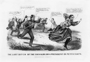 The Last Ditch Of The Chivalry, Or A President In Petticoats Image