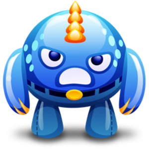 Blue Monster Angry Icon Image