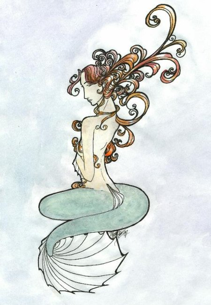 Art Nouveau Mermaid Free Images At Clker Com Vector