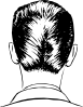 D A Haircut Rear View Clip Art
