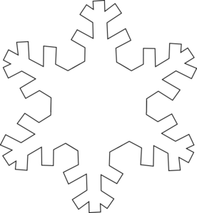 Snowflake outline. Clip art at clker