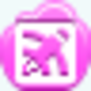 Free Pink Cloud Blog Writing Button Image