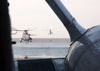 Two Sea King Helicopters Load Their Bambi Buckets Image