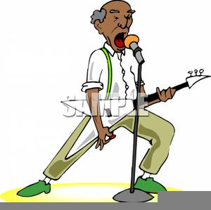 African American Seniors Clipart Image