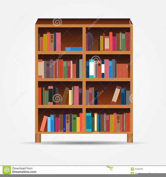 Bookcases clipart free images at clker vector clip