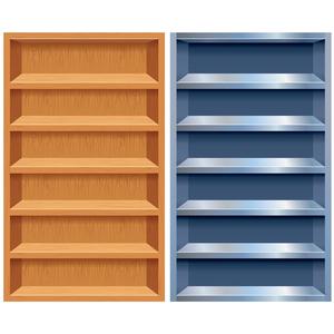 Empty Bookshelf Clipart Image