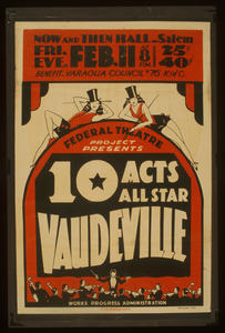 Federal Theatre Project Presents 10 Acts All Star Vaudeville Image