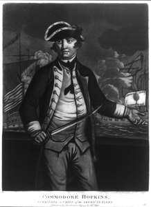 Commodore Hopkins, Commander In Chief Of The American Fleet Image