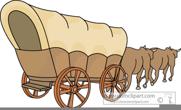 animated covered wagon clipart free images at clker com vector rh clker com covered wagon silhouette clip art covered wagon wheel clip art