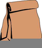 Free Brown Bag Lunch Clipart Image