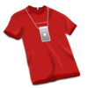 Apple Store Tshirt Red Icon Image