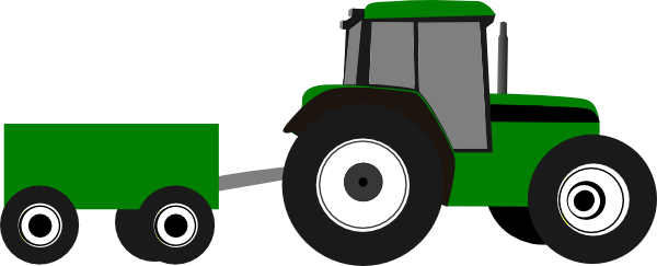 Animated John Deere Tractors And Wagon : Tractor clip art at clker vector online