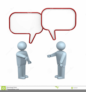 Two People Talking To Each Other Clipart Image