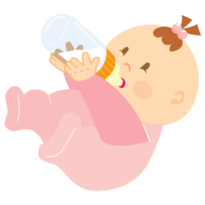 Baby Girl Drinking 256 | Free Images at Clker.com - vector ...