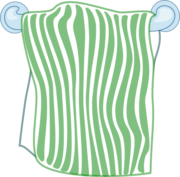 Bath Towel Clip Art at Clker.com - vector clip art online, royalty ...