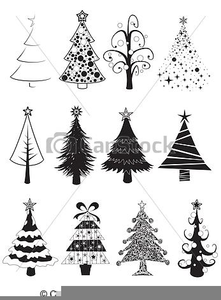 Christmas Tree Clipart Black And White.Christmas Tree Clipart Black Free Images At Clker Com