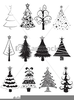 Christmas Tree Clipart Black Image