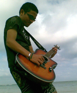 Guitar Player Beach Cool Image