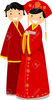 Chinese Wedding Couple Clipart Image