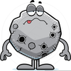 Cartoon Asteroid Clipart Image