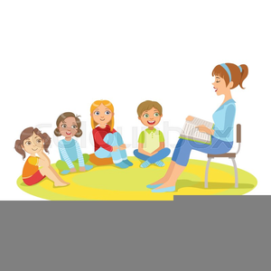 Children Listening Clip Art