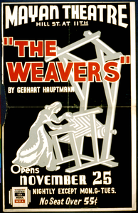 The Weavers  By Gerhart Hauptmann Opens November 25 Image